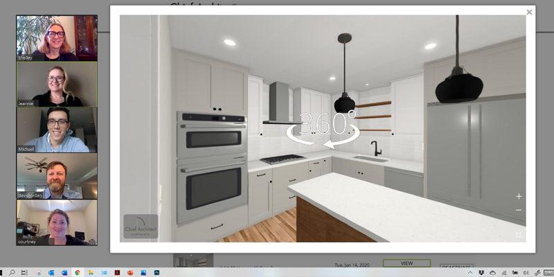 Virtual Design Meeting Kitchen Remodel Zoom