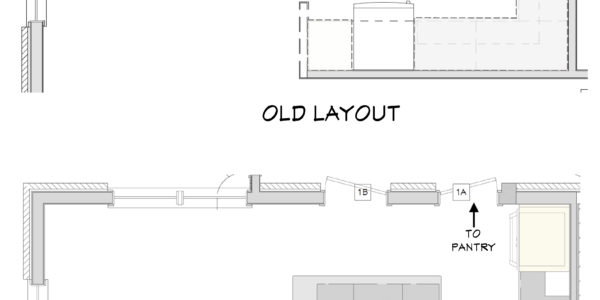 layout change of kitchen design blueprints
