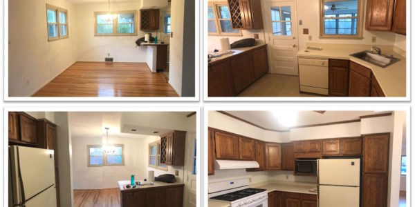 Kitchen remodeling collage of before pictures