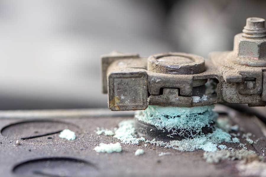 How to clean battery terminals.