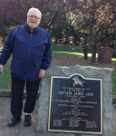 Author at the site of Cpt. James Jack's homestead in Charlotte, NC