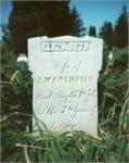 Elizabeth Hayes Marshall headstone, Enon Valley, PA