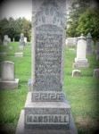 Joseph & Elizabeth Marshall headstone, Little Beaver Cemetery, PA (courtesy Kay Harrison)