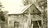Lee cabin, moved to Niverton farm, where Annie was born