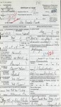 Permelia's Death Certificate w/o mother's name