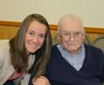 Great-granddaughter Abbie Cable  & Dick Miller 11/27/14