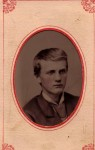 Young Franklin Baer C. 1870's from metal photo