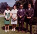 Hilda & Dick Miller (center) with daughter Susan Pearce (left) & son Dan (right) c. 1965