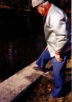 """""""RO"""" Miller, retired cement contractor, at former project: Jenner Twp. Reservoir Autumn 1999"""