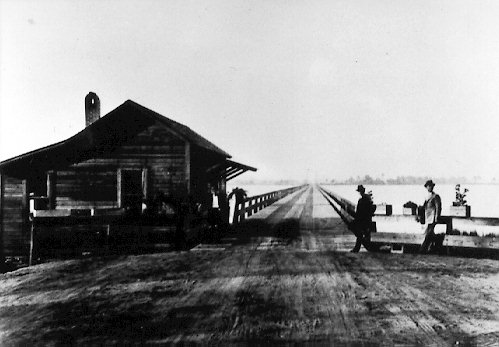 Lynn Haven's old wooden bridge was also used as a fishing pier