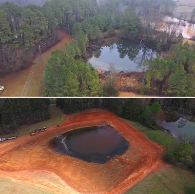 Pond Building, Land Clearing, Tree Removal in Central Florida