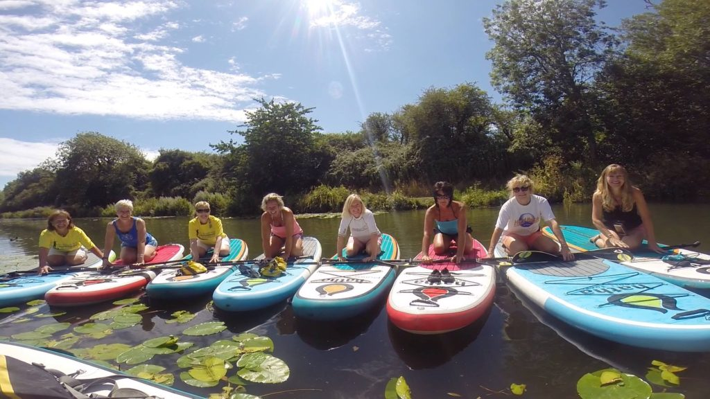 group lesson on Chichester canal