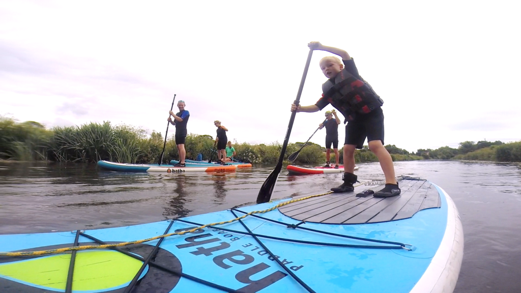 SUP lesson on the Chichester Canal