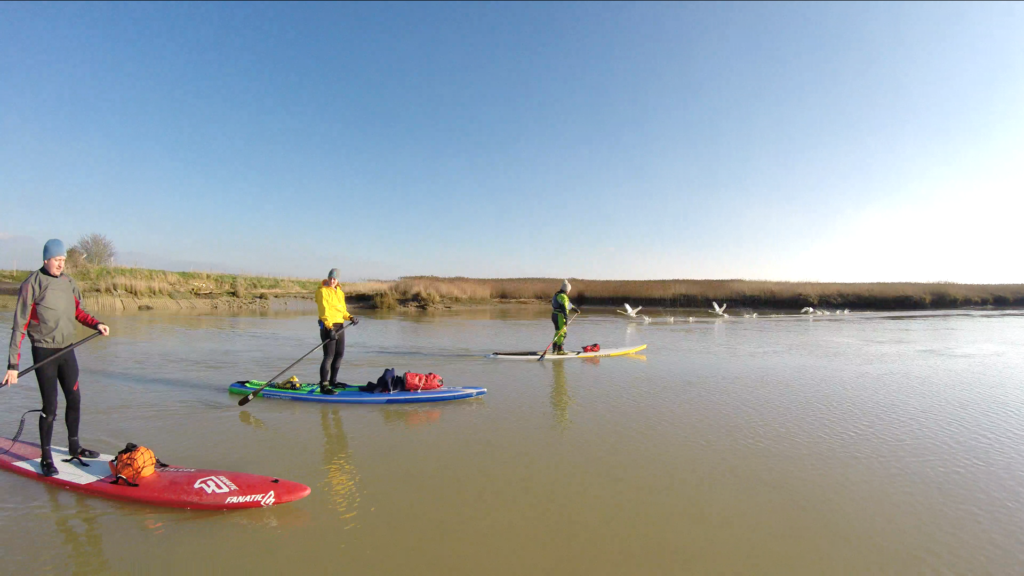 Paddle boarding in the Winter