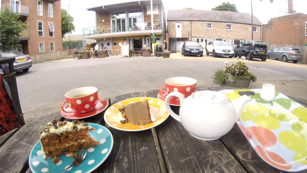 Tea and cake at Canal Cafe