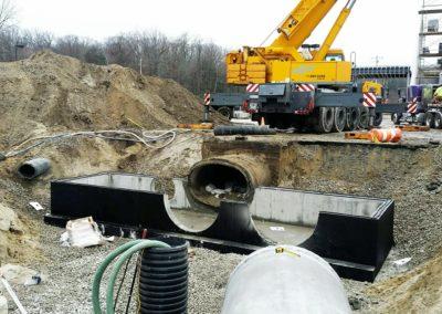 Jet Aviation Hanger & FBO Hanscom MA - Construction site work – excavating contractors – heavy equipment – civil construction – siteworks – Westborough – Boston – Metro West – MA – RI – CT – VT – NH