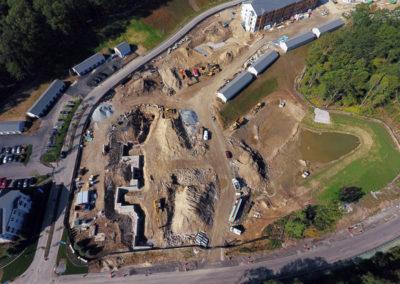 Cirrus Apartments Ashland MA - Construction site work – excavating contractors – heavy equipment – civil construction – siteworks – Westborough – Boston – Metro West – MA – RI – CT – VT – NH