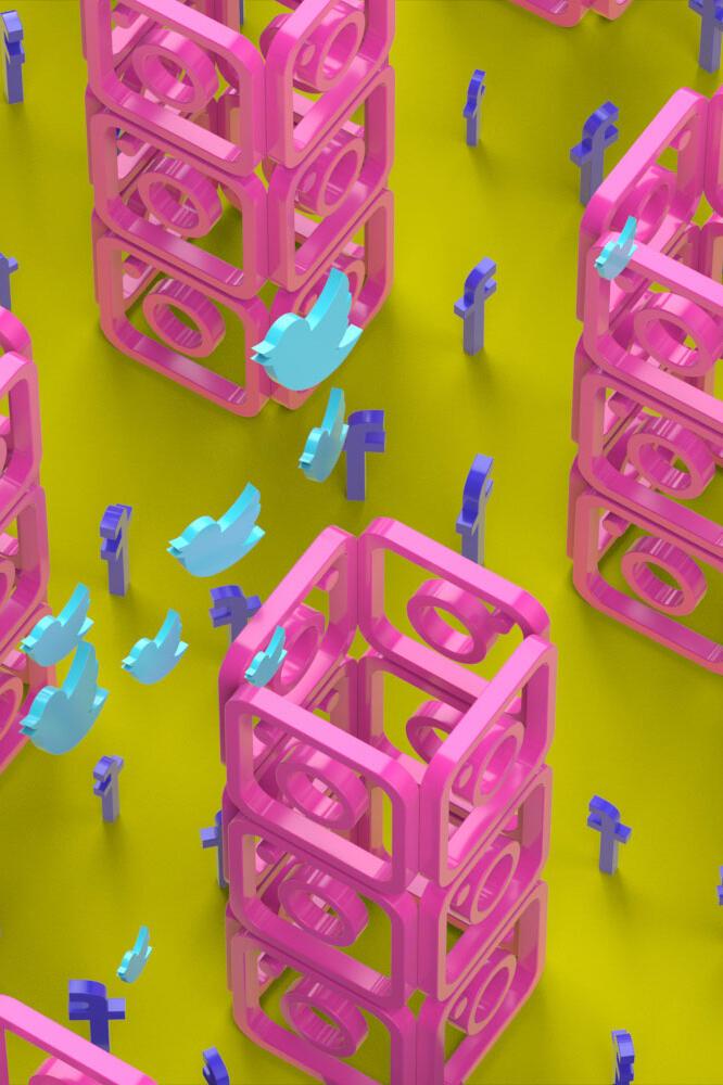 xolve branding, social media icon 3D icon, online presence