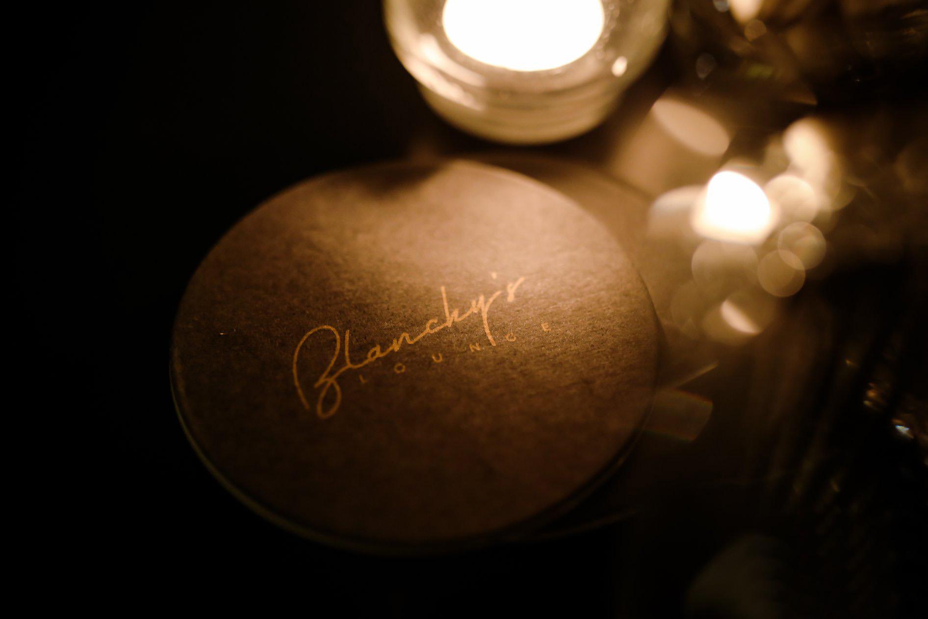 blanchy's lounge coaster, xolve branding