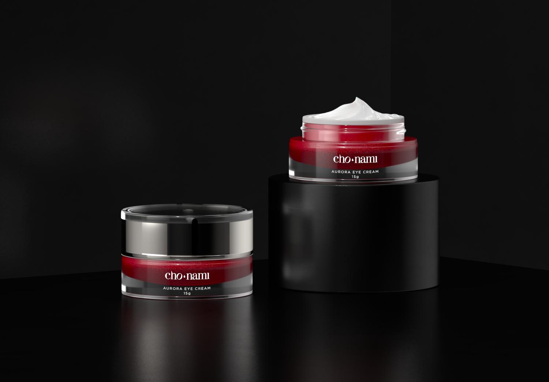 Cho Nami Aurora Eye Cream, xolve branding, kem dưỡng da vùng mắt, xolve branding, 3D cosmetic