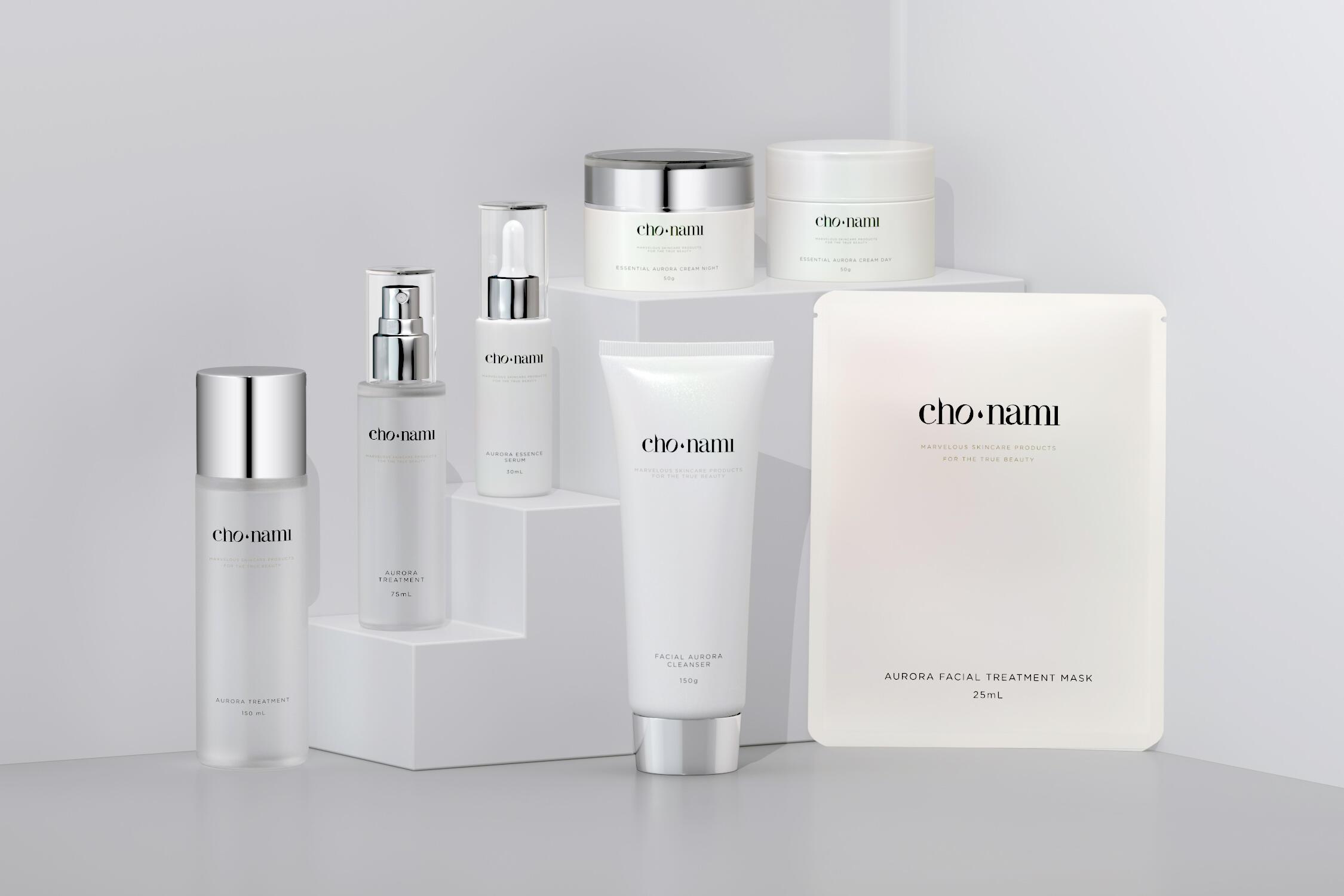 Cho Nami Aurora Product, Dưởng trắng da, xolve branding, mỹ phẩm, xolve, cosmetic 3d