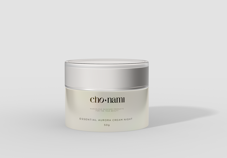 Cho Nami, Aurora Cream Night, kem dưỡng trắng da ban đêm, xolve branding, 3D cosmetic