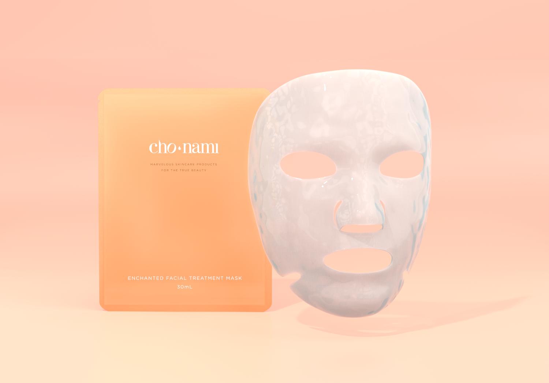 Cho Nami, Enchanted Facial Treatment Mask, Mặt nạ, chống lão hóa, xolve branding, 3D cosmetic