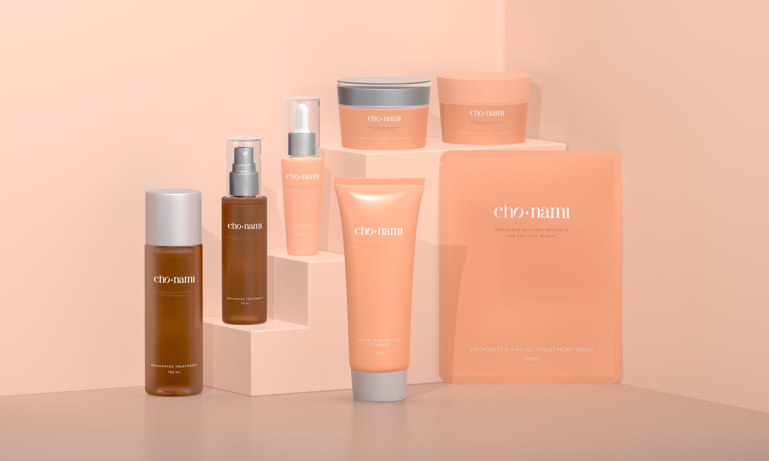 Cho Nami Clean Protect Product, xolve branding, mỹ phẩm, xolve, cosmetic 3d rendering