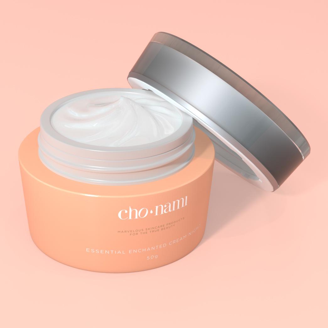 Cho Nami, Enchanted Cream Night, kem chống lão hoá ban đêm, xolve branding, 3D cosmetic