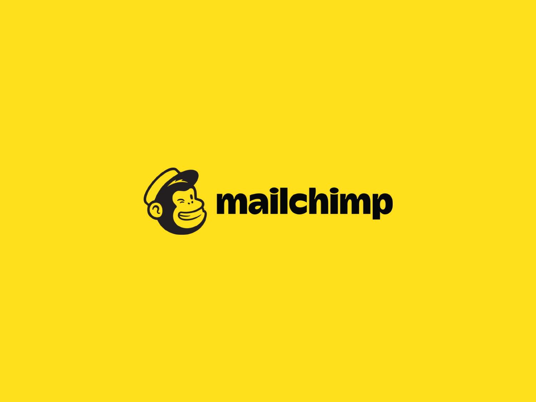 MailChimp mascot and wordmark