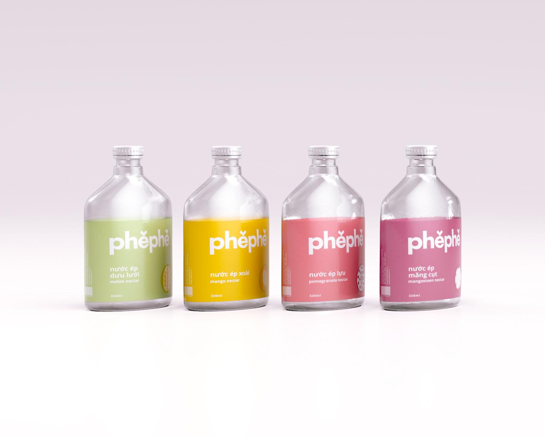 label design, packaging design, branding, product design, juice bottle, phephe, xolve branding, modern design