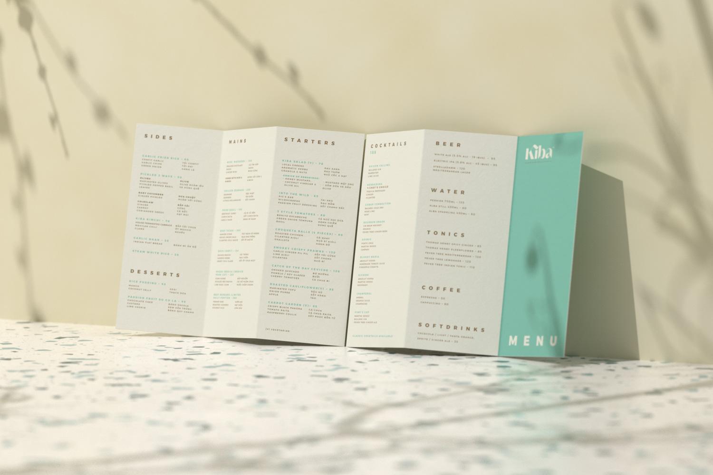Kiba Saigon trifold menu