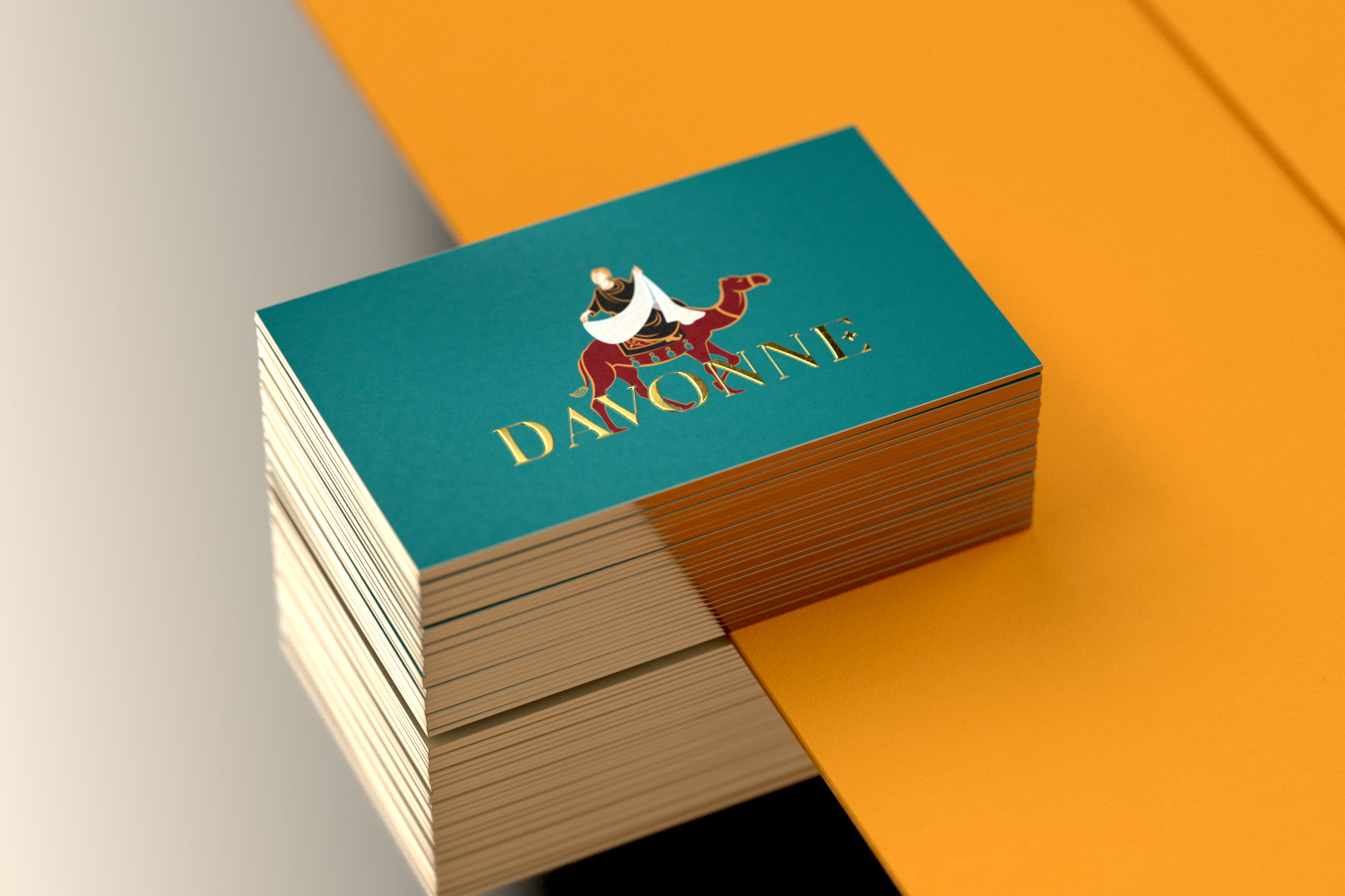 Davonne business card show golden edge painting