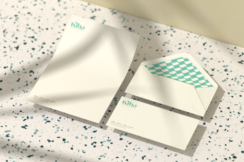 Kiba Saigon letterhead and Dl envelope