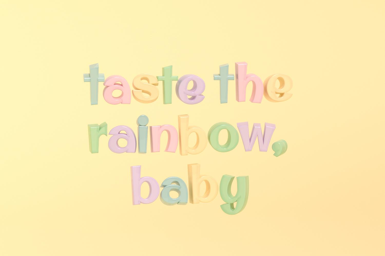 taste the rainbow letters