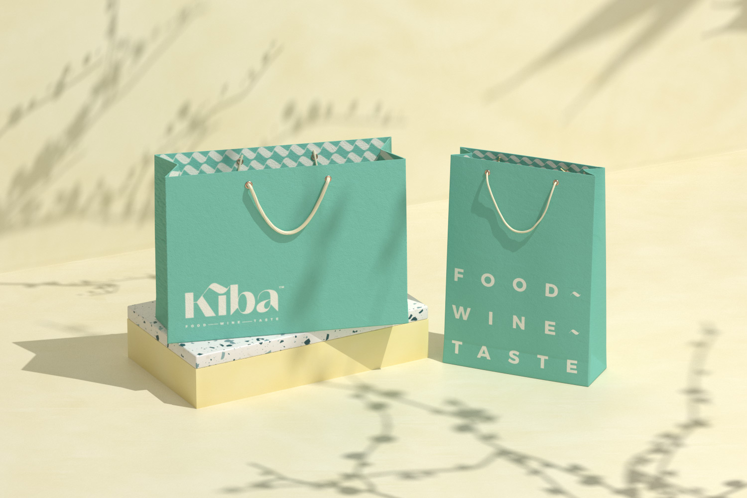 Kiba Sagon shopping bags