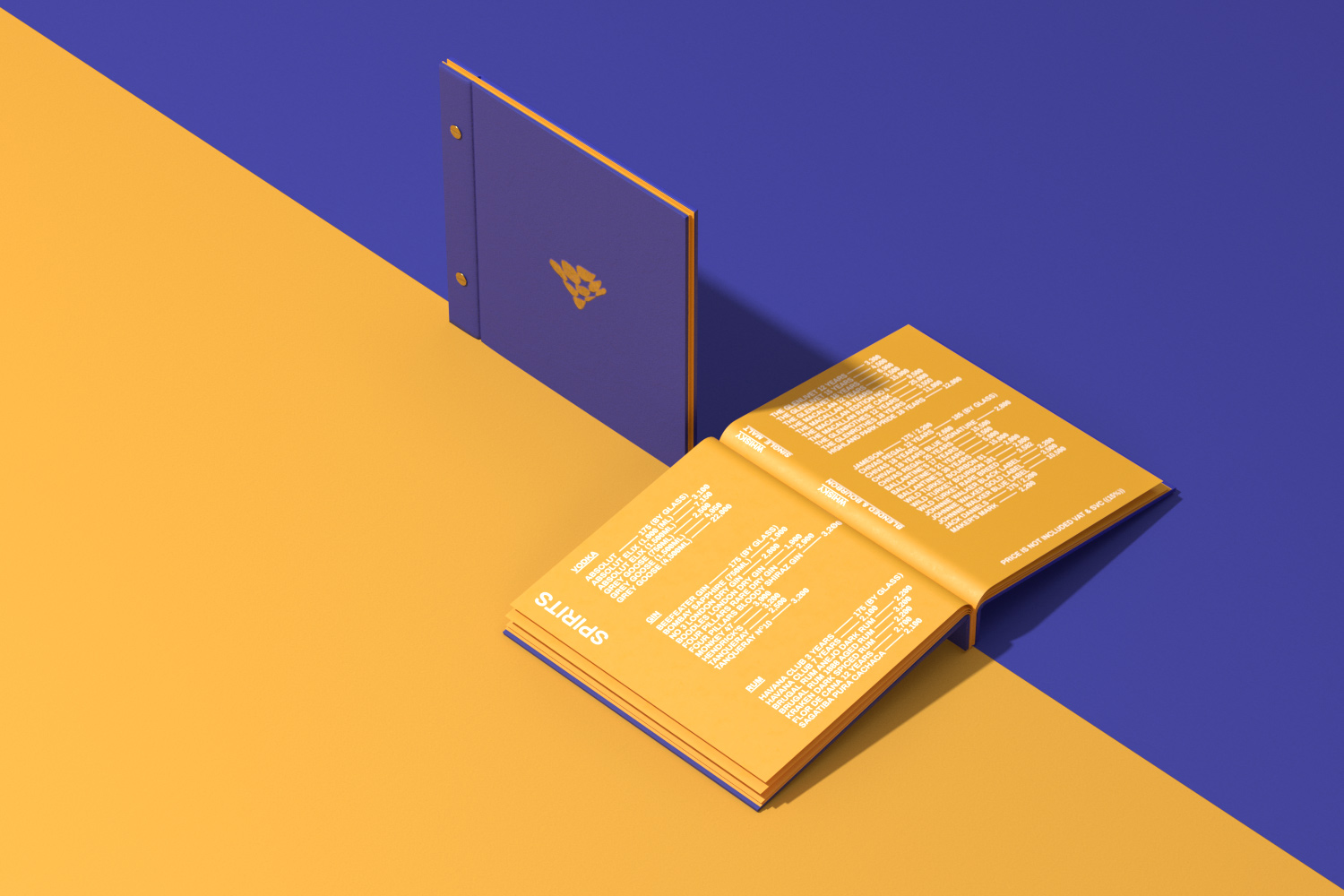 Epic drinklist on yellow and blue background