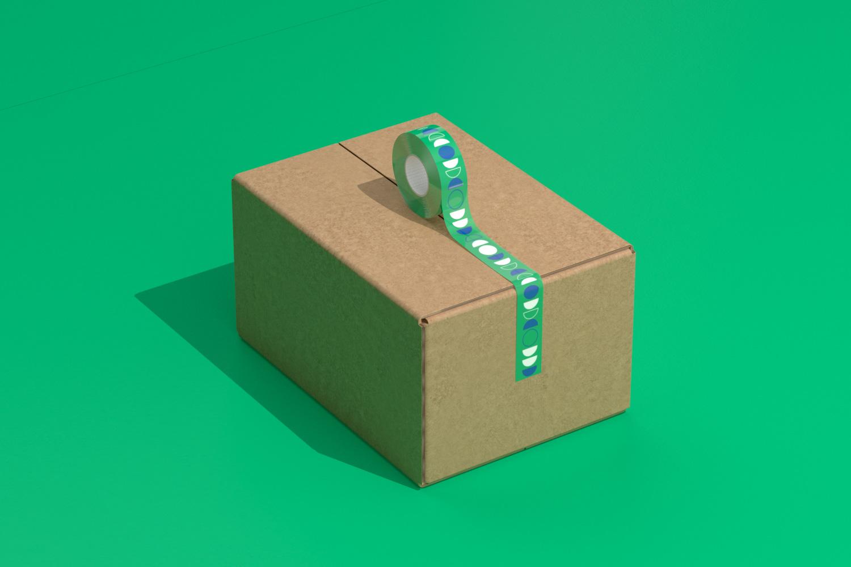 LIN ducktape on carton box