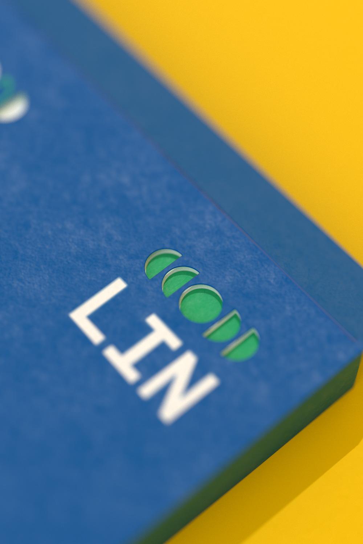 LIN brochure cover cutout detail