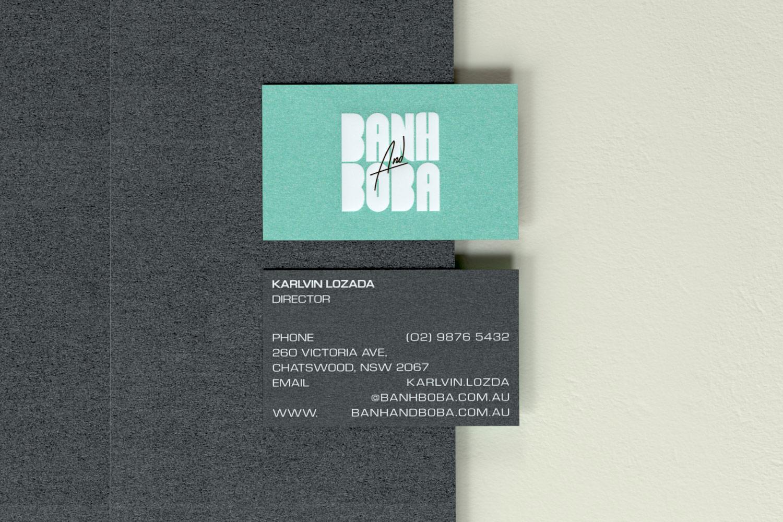 Banh and Boba business card