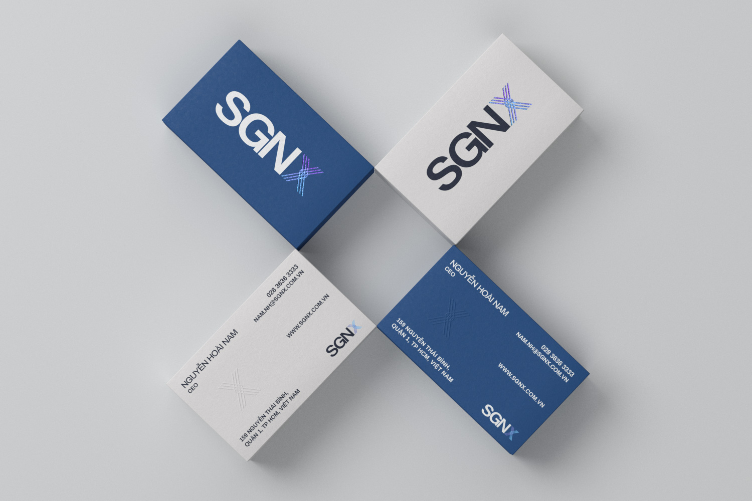 SGNX business card overview
