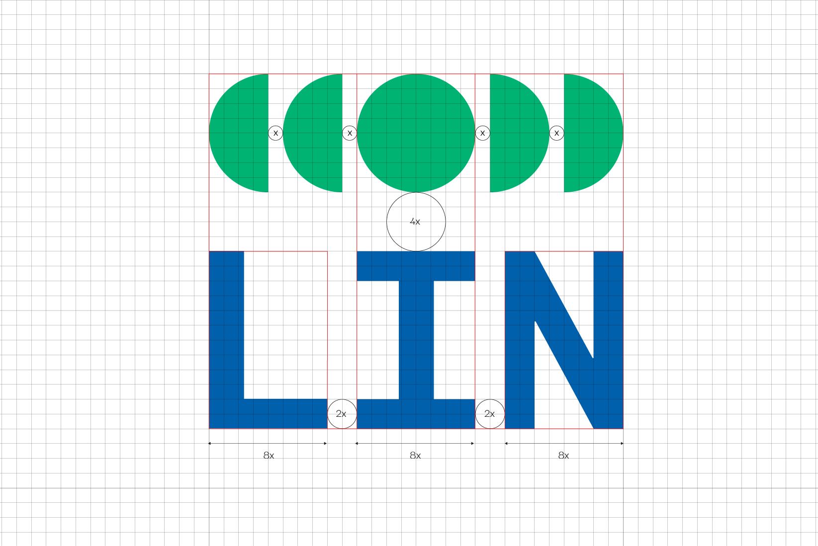 LIN logo grid system
