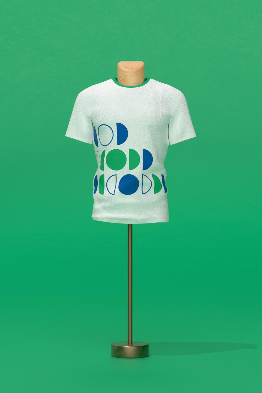 LIN white t shirt on a hanger