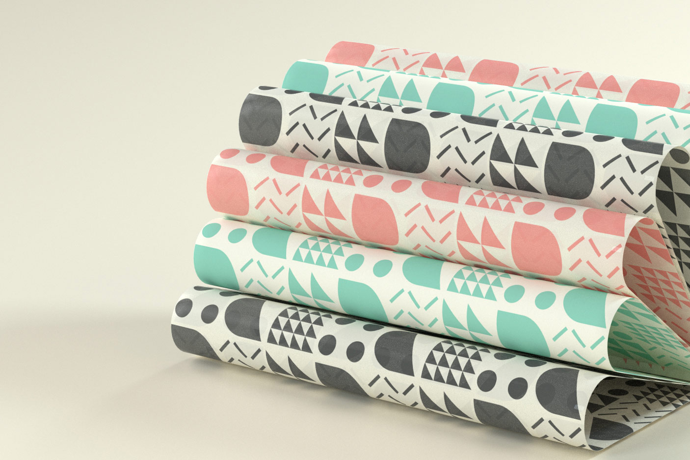 Banh and Boba wrapping papers