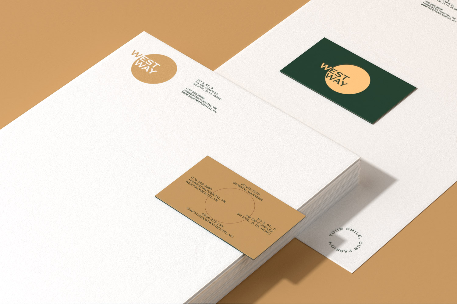 Westway letterhead with business cards