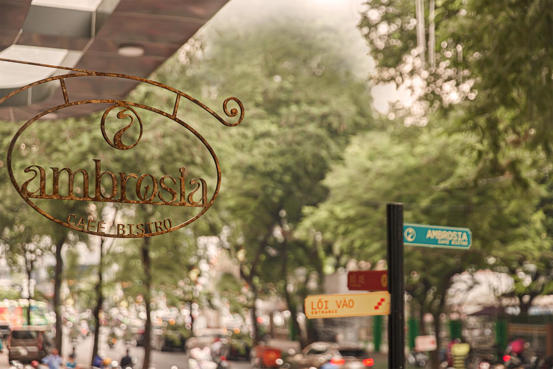 Ambrosia Hanging Signage