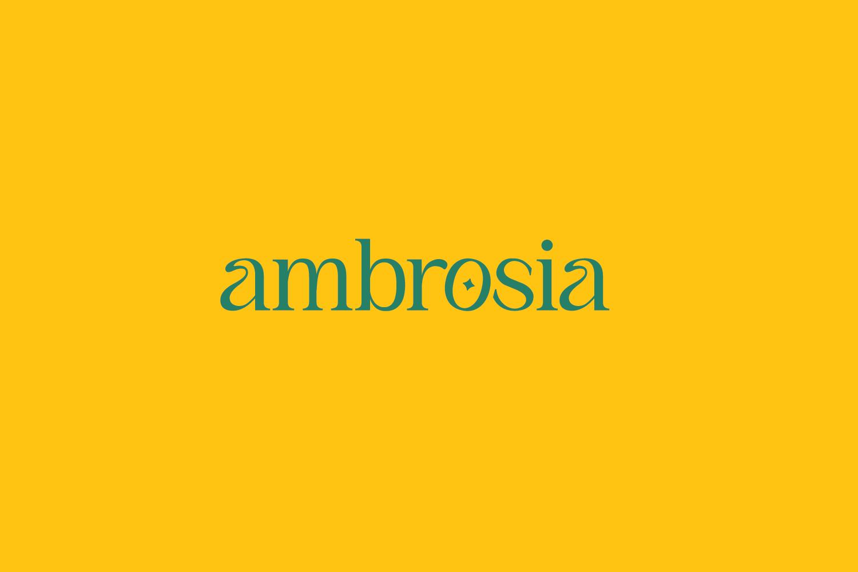 ambrosia yellow logo
