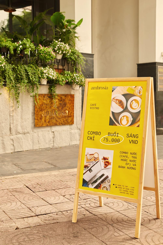 ambrosia outdoor signage