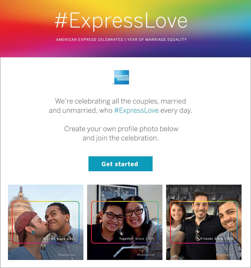 American Express pride campaign