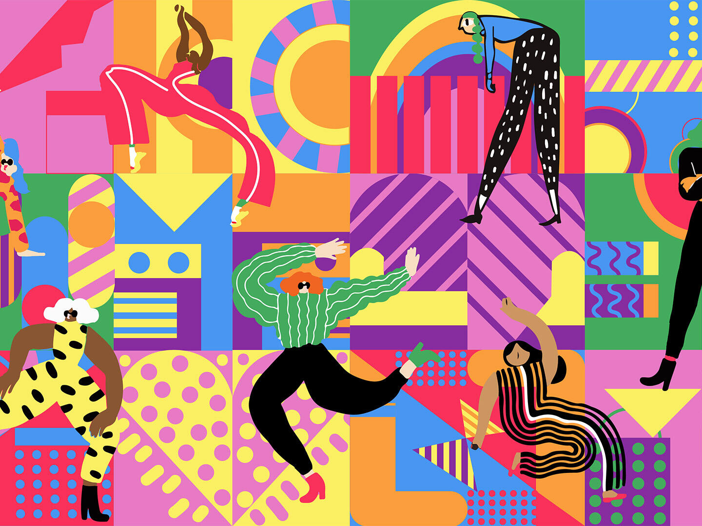 xolve abstract colorful illustration on Pride month